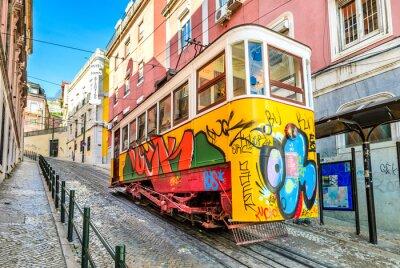 Картина Глория Фуникулер, Лиссабон, Португалия