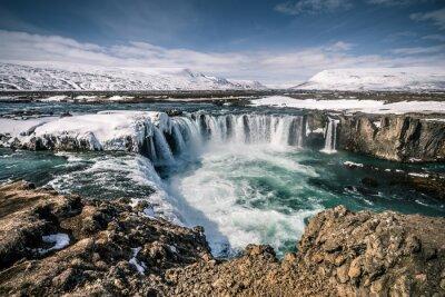 Картина Годафосс водопад в Исландии