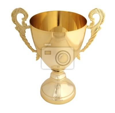 золотой трофей изолированные с пути