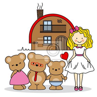 Goldilocks. children's story