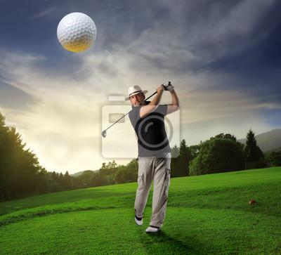 Картина гольф-клуб