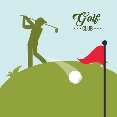 Картина значок дизайн Golf