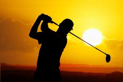 Картина игрок в гольф