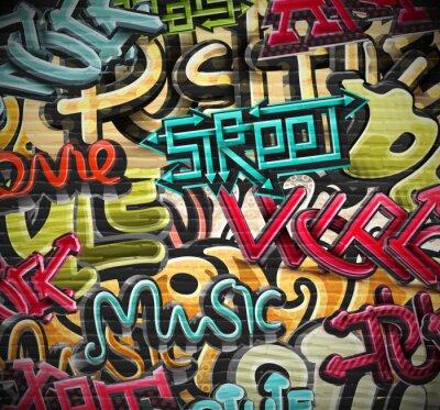 Картина Граффити фон