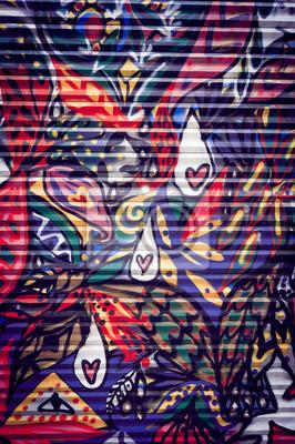 Картина Граффити Colore сюр порте Metallique