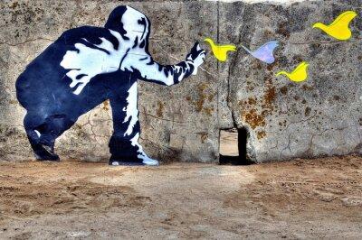 Картина Граффити liberté