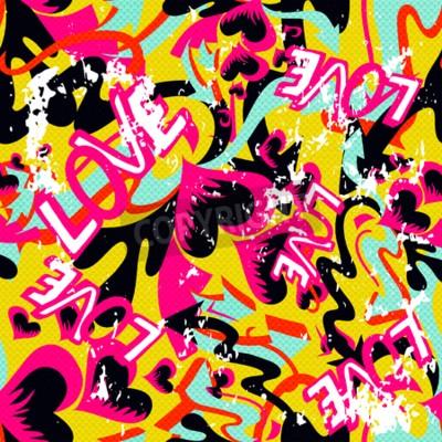 Картина Граффити Валентина день бесшовные фон гранж текстуры