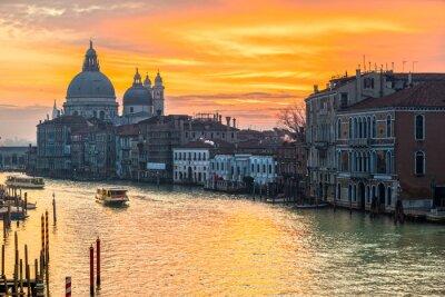 Картина Большой канал и Базилика Санта-Мария-делла-Салюте, Венеция, Италия