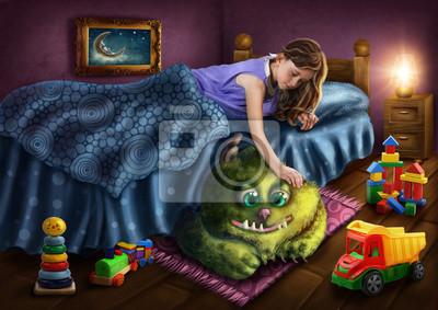 Зеленый монстр под кроватью