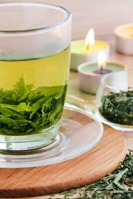 Картина Зеленый чай и свечи