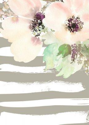 Картина Поздравительная открытка с цветами. Пастельные цвета. Ручной работы. Акварельная живопись. Свадьба, день рождения, День матери. Люкс для душа.