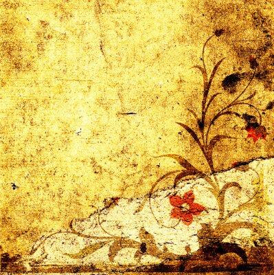 гранж цветочный дизайн с декоративной текстурированный фон