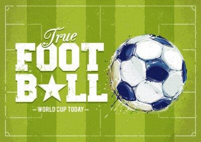 Картина Гранж Футбол плакат