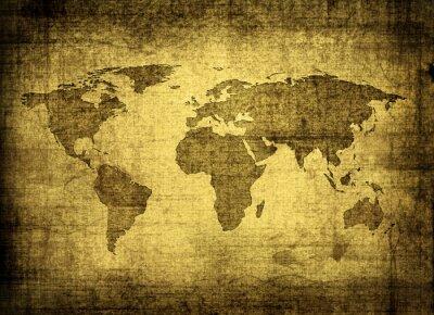 Картина гранж карта мира