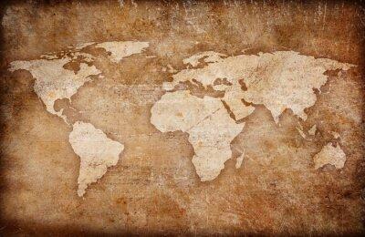 Картина карта мира гранж