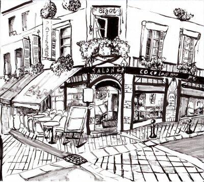 Картина Рука ничья париж кафе