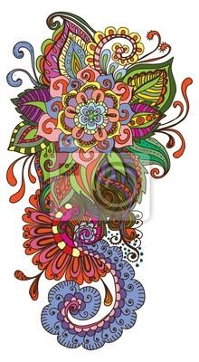 рисованной цвет цветочный фон