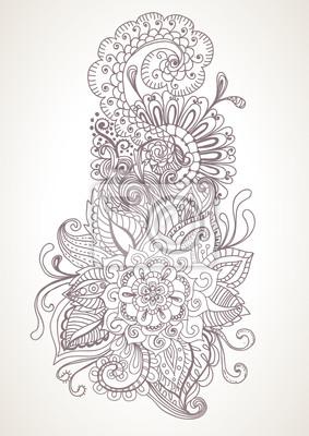 рисованной цветочные фон