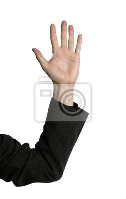 рука деловой человек поднял в воздухе