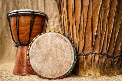 Картина ручной джембе барабаны