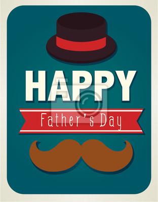 Счастливые отцы день карты - векторный файл EPS10
