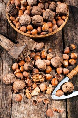 Картина Орехи и грецкие орехи