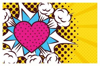 Картина heart love pop art style