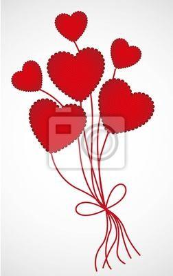 Форме сердца воздушные шары