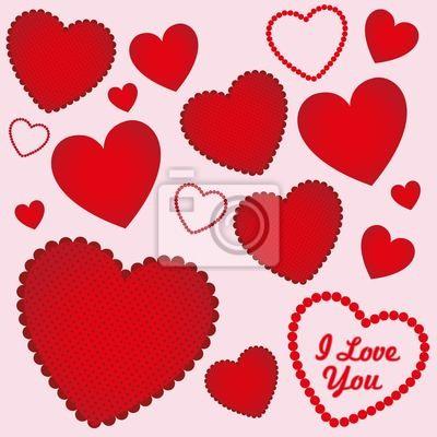 Сердца с различными текстурами