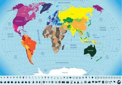 Картина высокий подробную карту мира