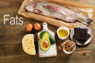 Картина С высоким содержанием жира пищевые продукты, которые здоровы