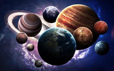 Картина Изображения с высоким разрешением представляет планеты Солнечной системы. Это элементы изображения, предоставляемые НАСА