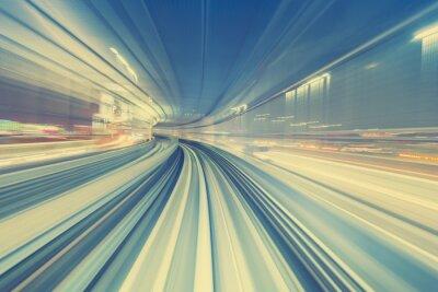 Картина Высокая скорость Концепция технологии через монорельс Токио