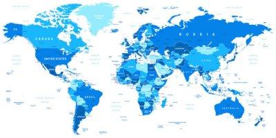 Картина Очень подробные векторные иллюстрации мировых map.Borders, стран и городов.