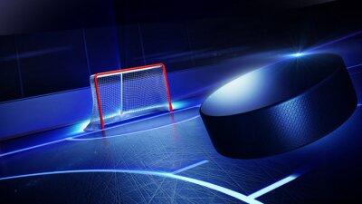 Картина Hockey ice rink and goal