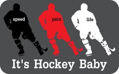 Картина Хоккей этикетки