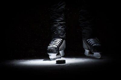 Картина Хоккеист. Ноги только просмотр