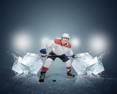 Картина Хоккеист с кубиками льда