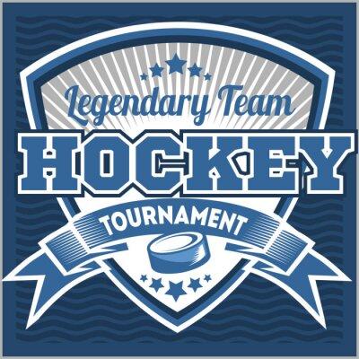 Картина Хоккейный шаблон логотип команды. Эмблема, шаблон логотипа, футболки дизайн одежды. Спортивный значок для турнира или чемпионата
