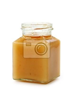 Мед на белом фоне