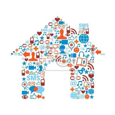 Символ дом с медиа Иконы текстуры