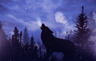 Картина Howling Wolf в Wilderness