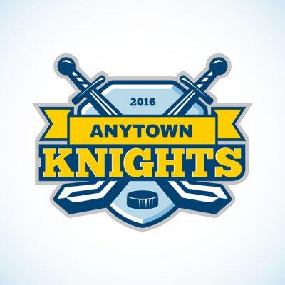Картина Хоккейный рыцари логотип команды.