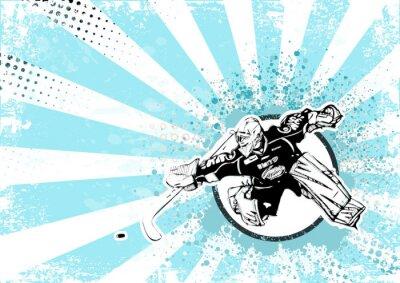 Картина хоккей ретро плакат фон