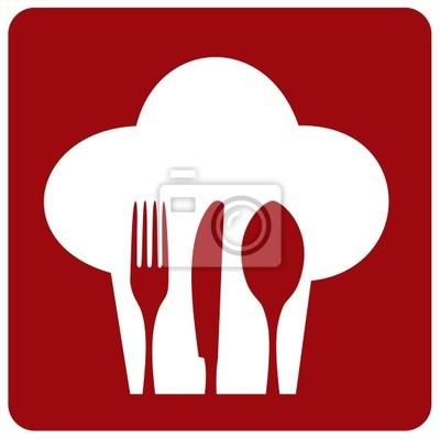 Иконка повар ресторана.