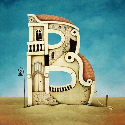 Картина Иллюстрация письма в виде зданий