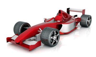 Картина изображения красный спортивный автомобиль на белом фоне