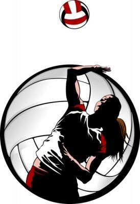 Картина Крытый Волейбол Крупным планом