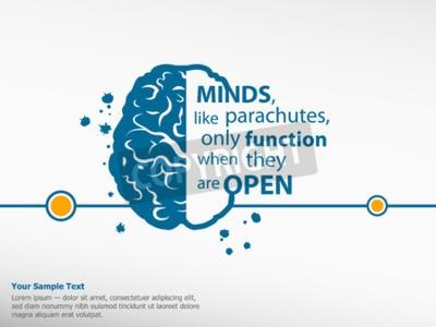 Картина Вдохновенный мотивационные цитаты на фоне мозга