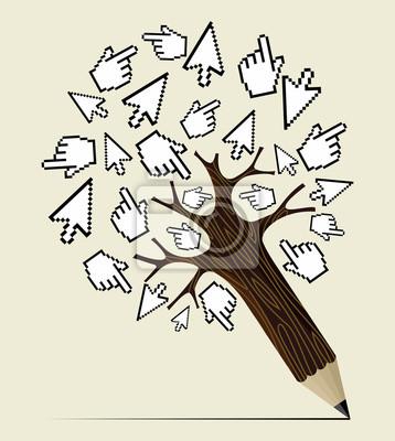 Концепция интернет-активности дерево